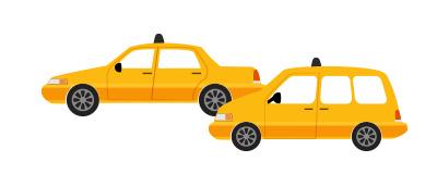 最少催行人数は4名様 9人乗りジャンボタクシーを利用