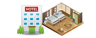 宿泊施設は宿坊・シティホテル・温泉旅館など お部屋は全て個室(相部屋なし)をご用意